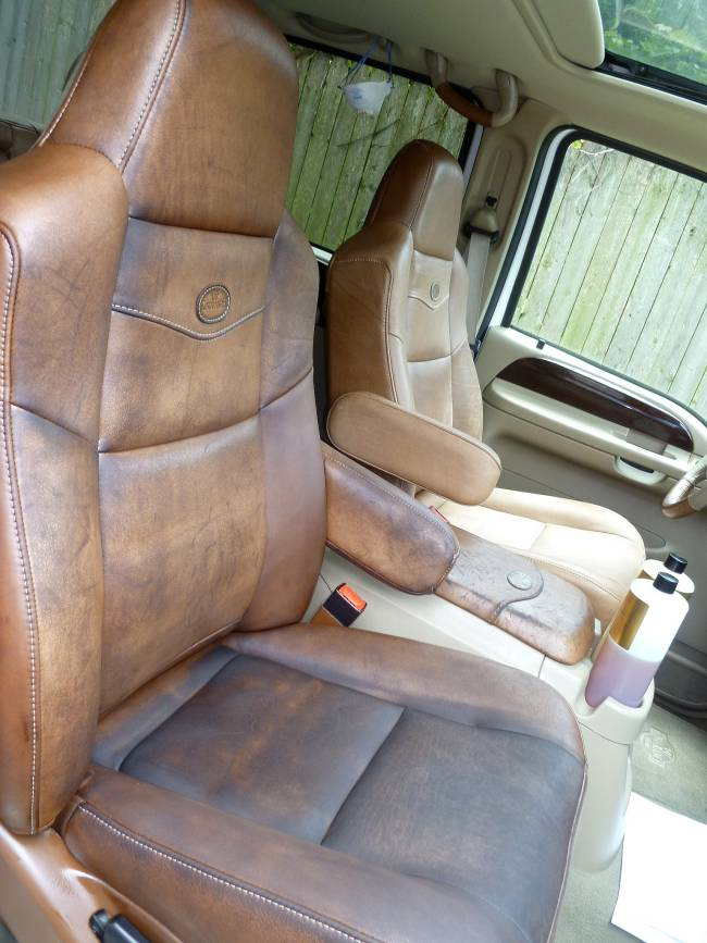 2005 Ford King Ranch Leather Seat I Think I Ruined Using