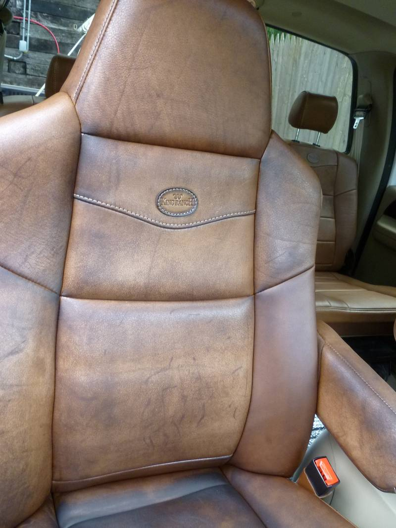 2005 Ford King Ranch Leather Seat, I think I ruined using ...