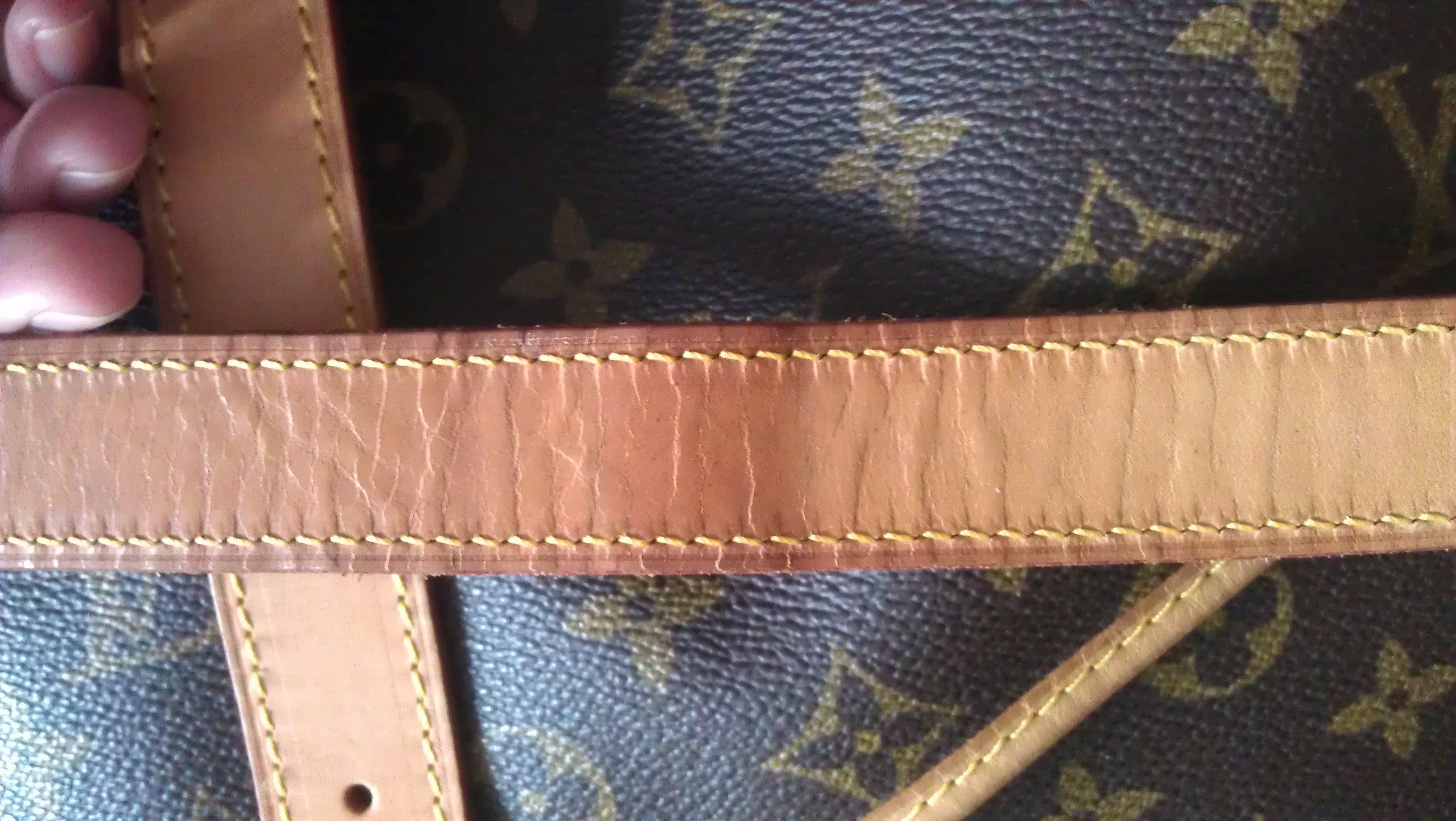 91a8f7f4b9fa Louis Vuitton - Water Spots and Cracks on Vachetta leather Strap!