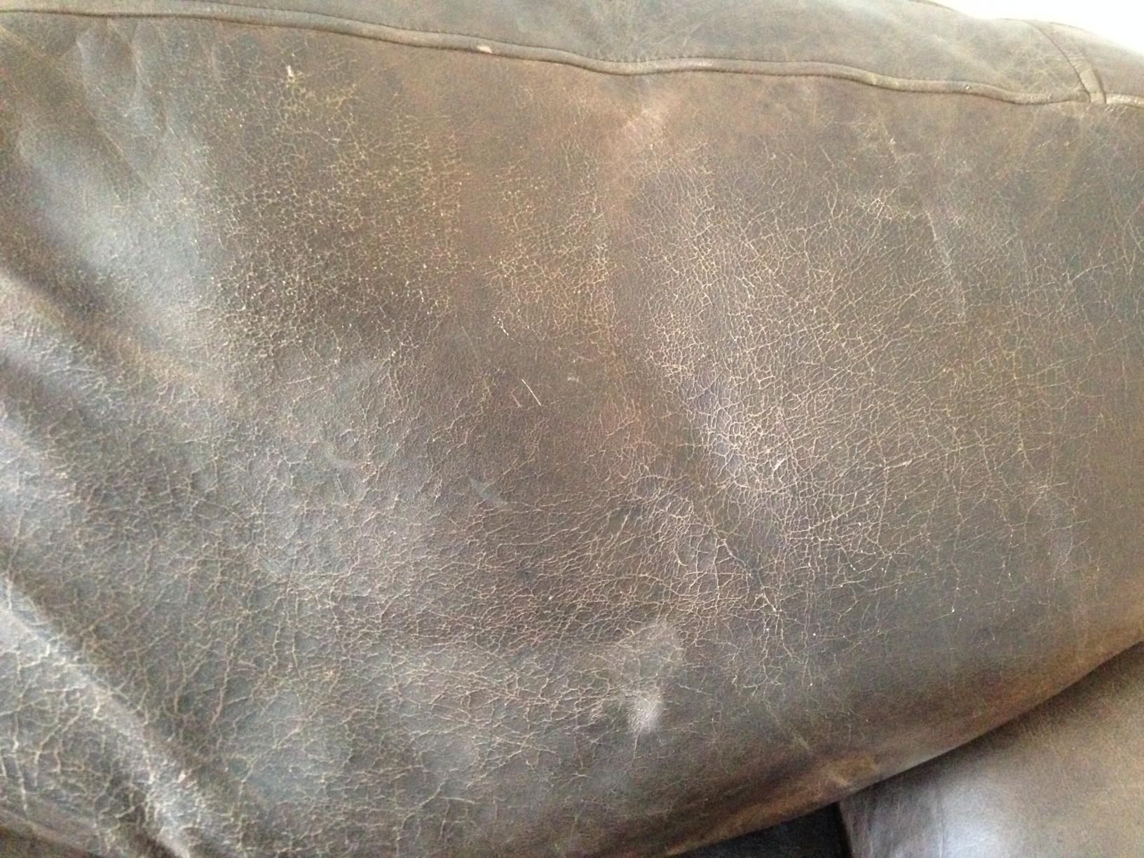 Aniline Wax Pull Up Leather Sofa Body Oils Heavy Smoke