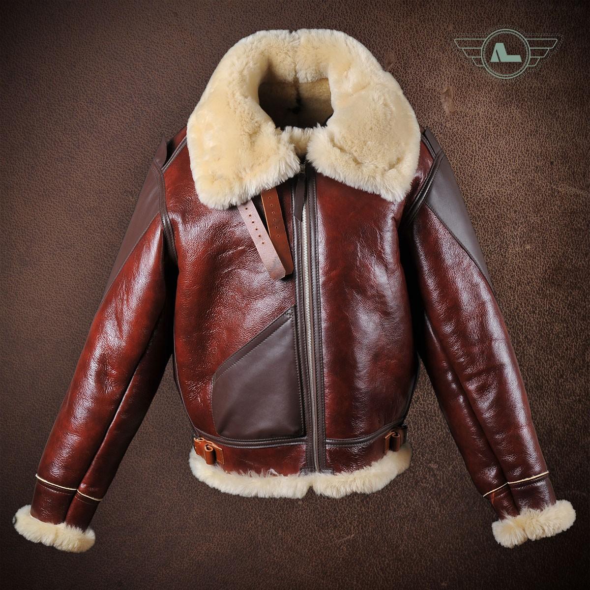 Redskin shearling flight jacket