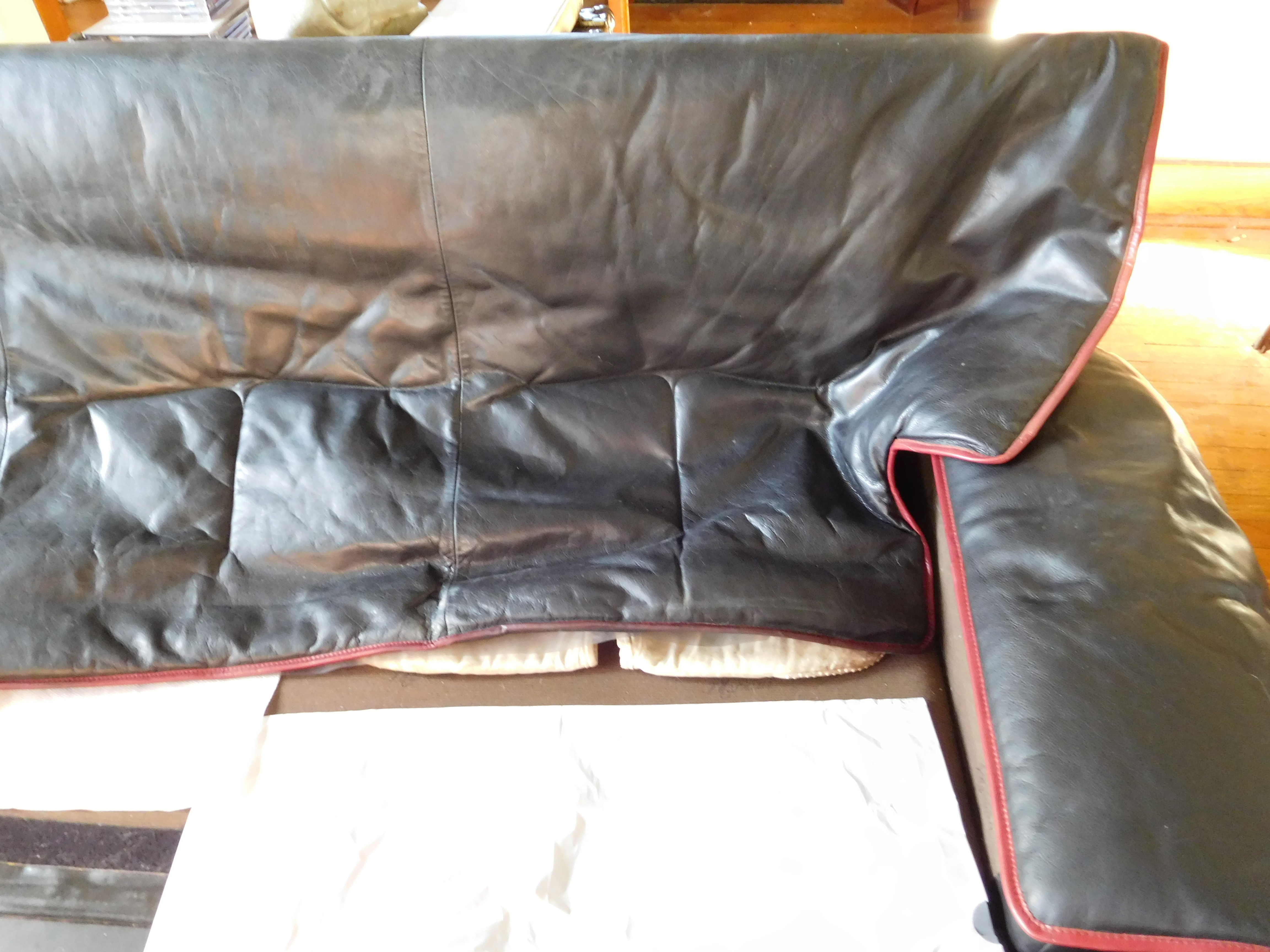 Aniline Leather Couches To Clean Both Of Which Our Cat Urinated