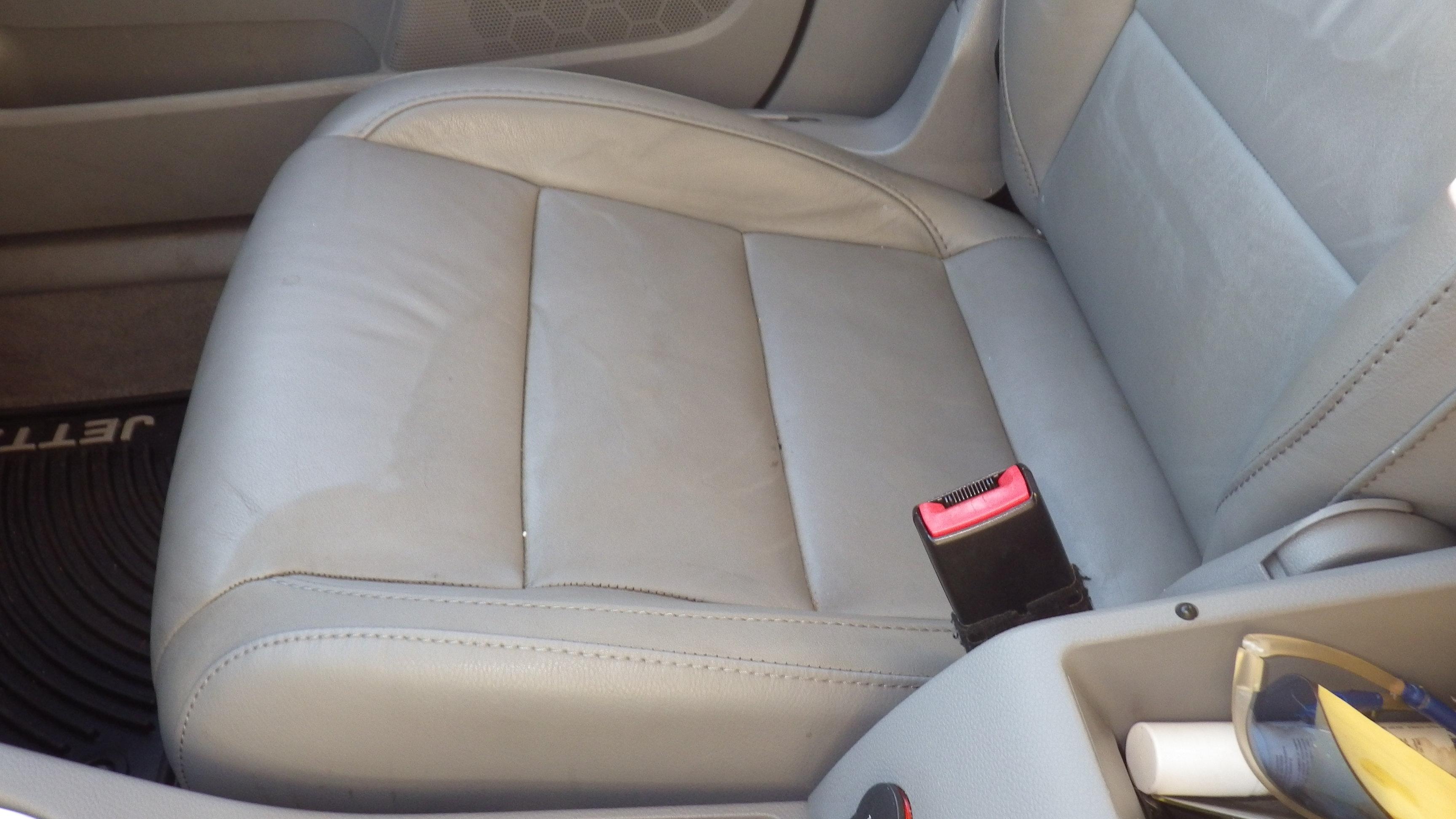 auto leather seat rain damage. Black Bedroom Furniture Sets. Home Design Ideas
