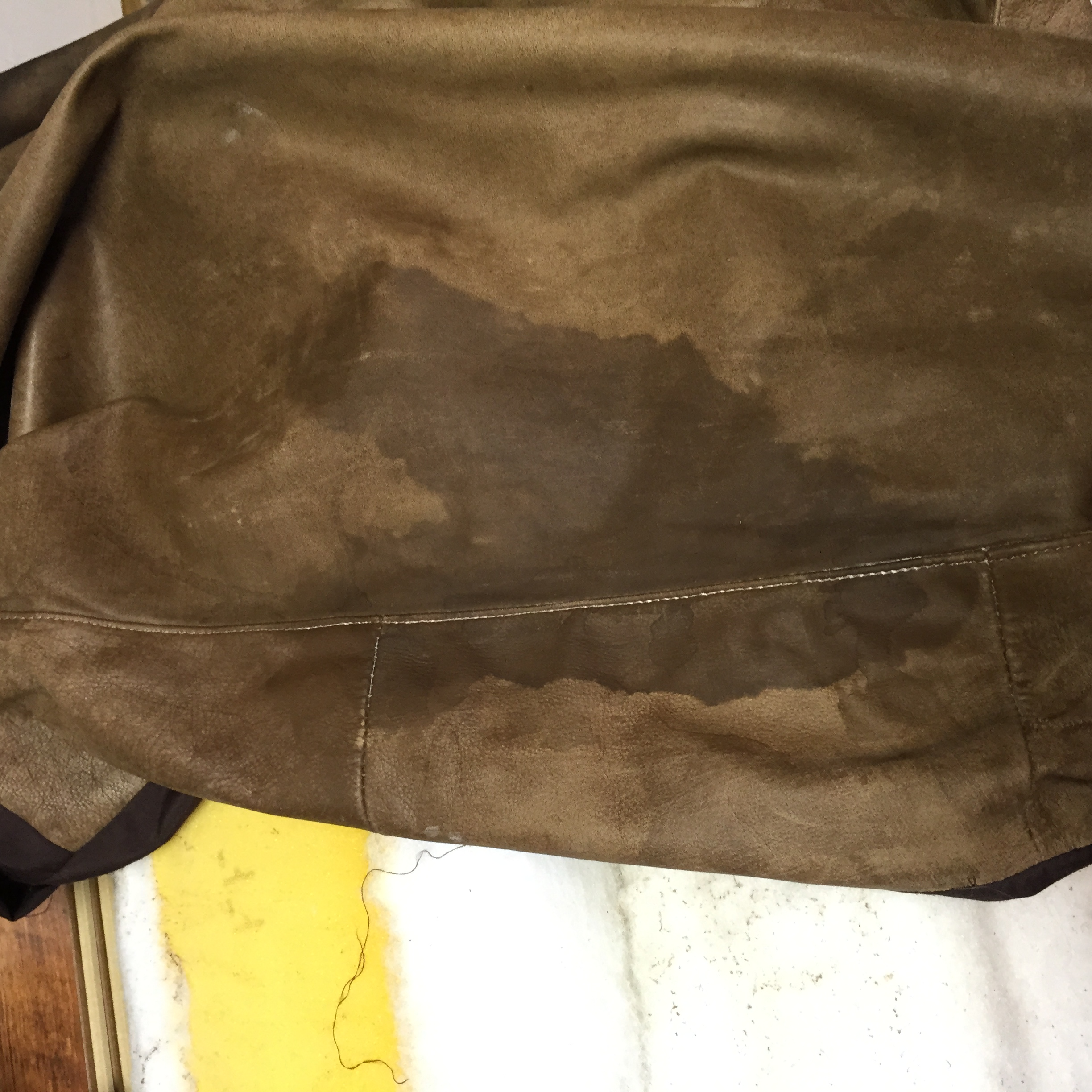 Cat Urine Stain On Nubuck Leather Couch